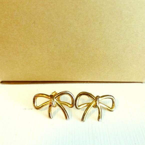 kate spade Jewelry - KATE SPADE Gold Bow Earrings